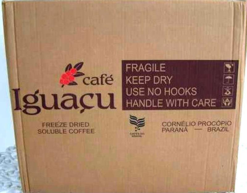 Растворимый кофе Игуацу, (сублимированный IGUACU ), Эквадор, 25 кг/ящ.