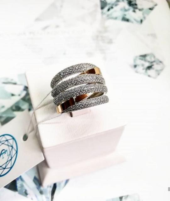 Кольца серебряные с золотом