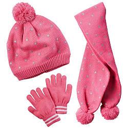 Набор шапка, шарф и перчатки