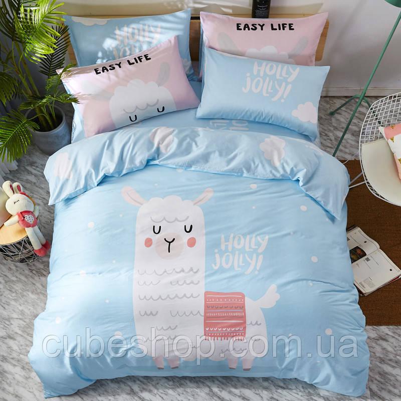 Полуторный комплект постельного белья Holly Jolly (хлопок)