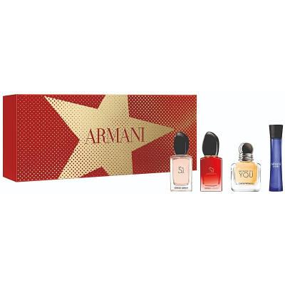 Подарунковий жіночий набір GIORGIO ARMANI Si 7ml + Si Passione 7ml + Because it's You 7ml + Armani Code 3ml