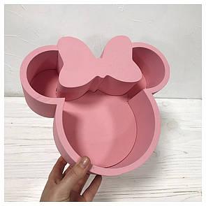 Пенобокс для цветов - Минни Маус 22*23*10 см - крашеный розовый