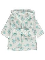 Халат для девочки белый в мятные цветы George (Англия) 80см. (9-12мес)