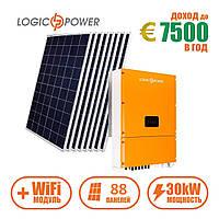 Комплект СЭС инвертор LPM-SIW-30kW + солнечные панели 88 шт. (WiFi)