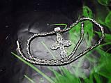 Серебряная цепочка Кинг с крестом, фото 6