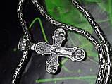 Серебряная цепочка Кинг с крестом, фото 7