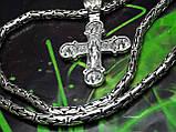 Серебряная цепочка Кинг с крестом, фото 9