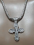 Серебряная цепочка Кинг с крестом, фото 5