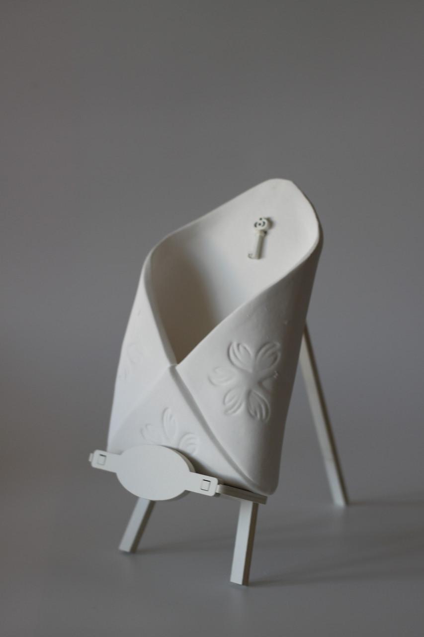 Кашпо, вазон, горшок для растений, декор для дома конверт Белый (00289)