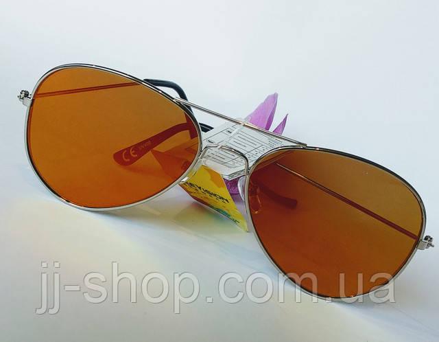 Солнцезащитные очки авиаторы унисекс