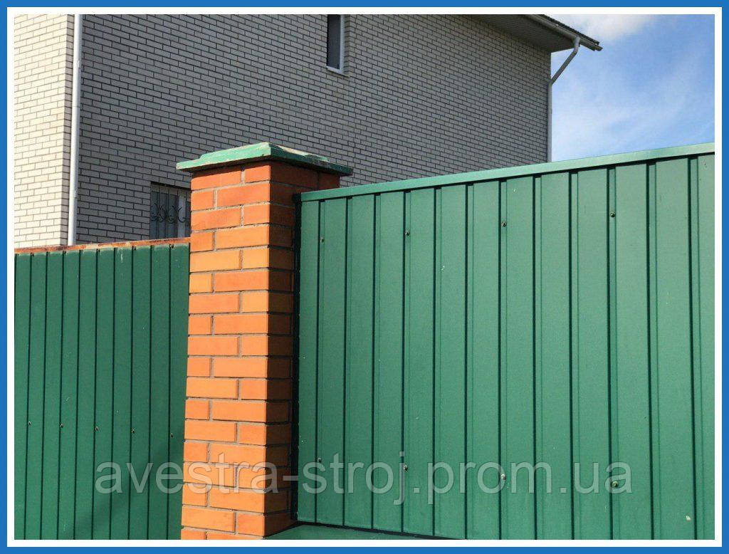 Профнастил стеновой  ПС18 в ассортименте 0,35мм, 0,4мм, 0,45мм