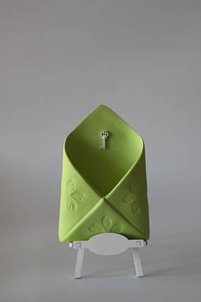 Кашпо, вазон, горшок для растений, декор для дома конверт Зеленый