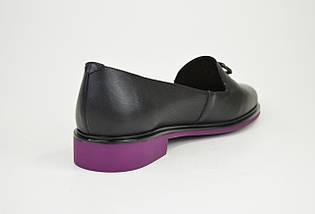 Туфли городские Geronea 49105 Черно-фиолетовые, фото 3