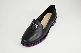 Туфли городские Geronea 49105 Черно-фиолетовые, фото 2