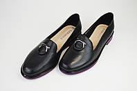 Туфли городские Geronea 49105 Черно-фиолетовые