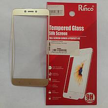 Защитное стекло 3D Xiaomi Redmi 5A Gold