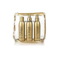 Набір з олією льону для відновлення волосся + косметичка Kleral System Semi Di Lino