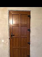 Двери металопластикові дуб золотий в масі