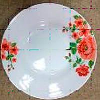 Тарілка кераміка 200 мм дрібна Кораловий квітка /уп. 12 шт./