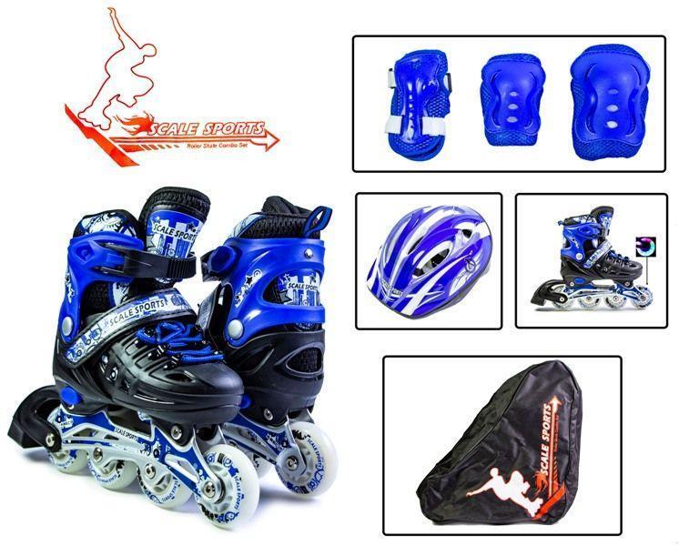 Роликовые коньки SCALE SPORT размер  29-33 (ролики+защита+шлем)