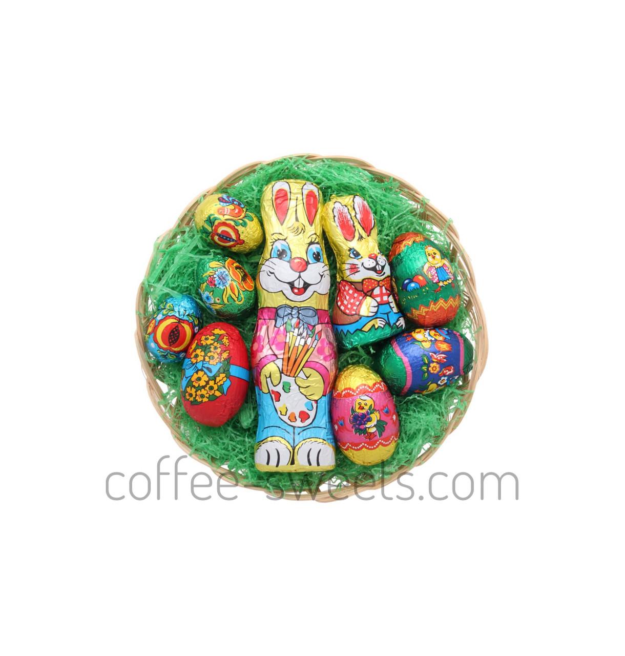 Набор Пасхальный шоколадные фигурки в корзинке Only 200g