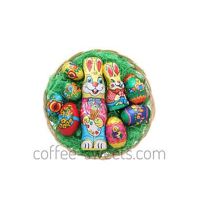 Набор Пасхальный шоколадные фигурки в корзинке Only 200g, фото 2