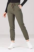 Женские стильные джоггеры штаны лосины брюки Весна Осень Хаки, фото 1