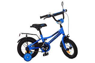 Велосипед  PROFI Y12223 Prime, 12 дюймов, синий, дополнительные колеса