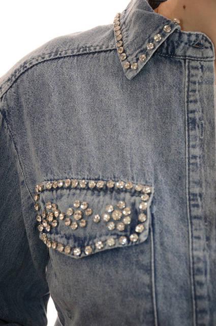 Женские джинсовые рубашки оптом Premium (лот 3шт по 17,5Є) 130