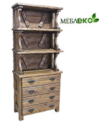 """Буфет-шкаф """" Оскар """" из натурального дерева под старину."""
