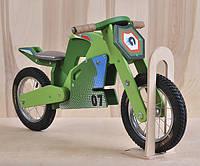 Велобег деревянный Jacka DaisySign зеленый Vel-2