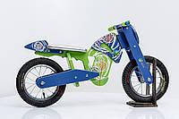 Велобег мотоцикл Flinstone DaisySign сине-салатовый Vel-17