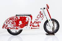 Велобег мотороллер Sofia DaisySign красно-белый Vel-19