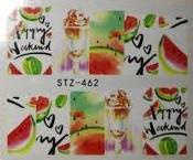 Слайдер-дизайн для ногтей STZ-462  6.2*5.2 см