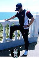 Мужской летний спортивный костюм штаны+футболка 054-15,5 (46 48 50) (цвета: т.синий) СП, фото 1