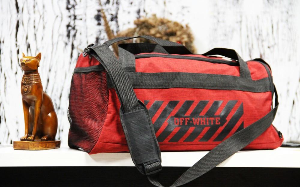 Спортивная сумка Off-White standart красная