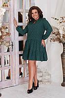 Платье свободного кроя принт Листики в расцветках 39256