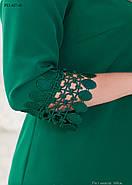 / Размер 52,54,56,58 / Женское платье прямого силуэта с рукавом ¾ / цвет зеленый, фото 2