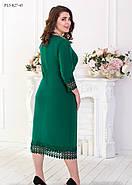 / Размер 52,54,56,58 / Женское платье прямого силуэта с рукавом ¾ / цвет зеленый, фото 3