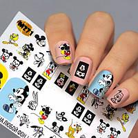 Наклейки для ногтей Микки маус Fashion Nails ( Водный Слайдер -дизайн Микки Маус ) М271