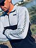 Мужской спортивный костюм 123-17,5 весна-осень (46-48.48-50) (цвета: серый+черный, красный+черный) СП