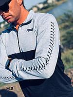 Мужской спортивный костюм 123-17,5 весна-осень (46-48.48-50) (цвета: серый+черный, красный+черный) СП, фото 1
