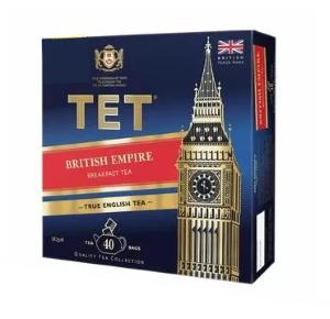 Чай черный пакетированный ТЕТ British Empire 100 шт, фото 2