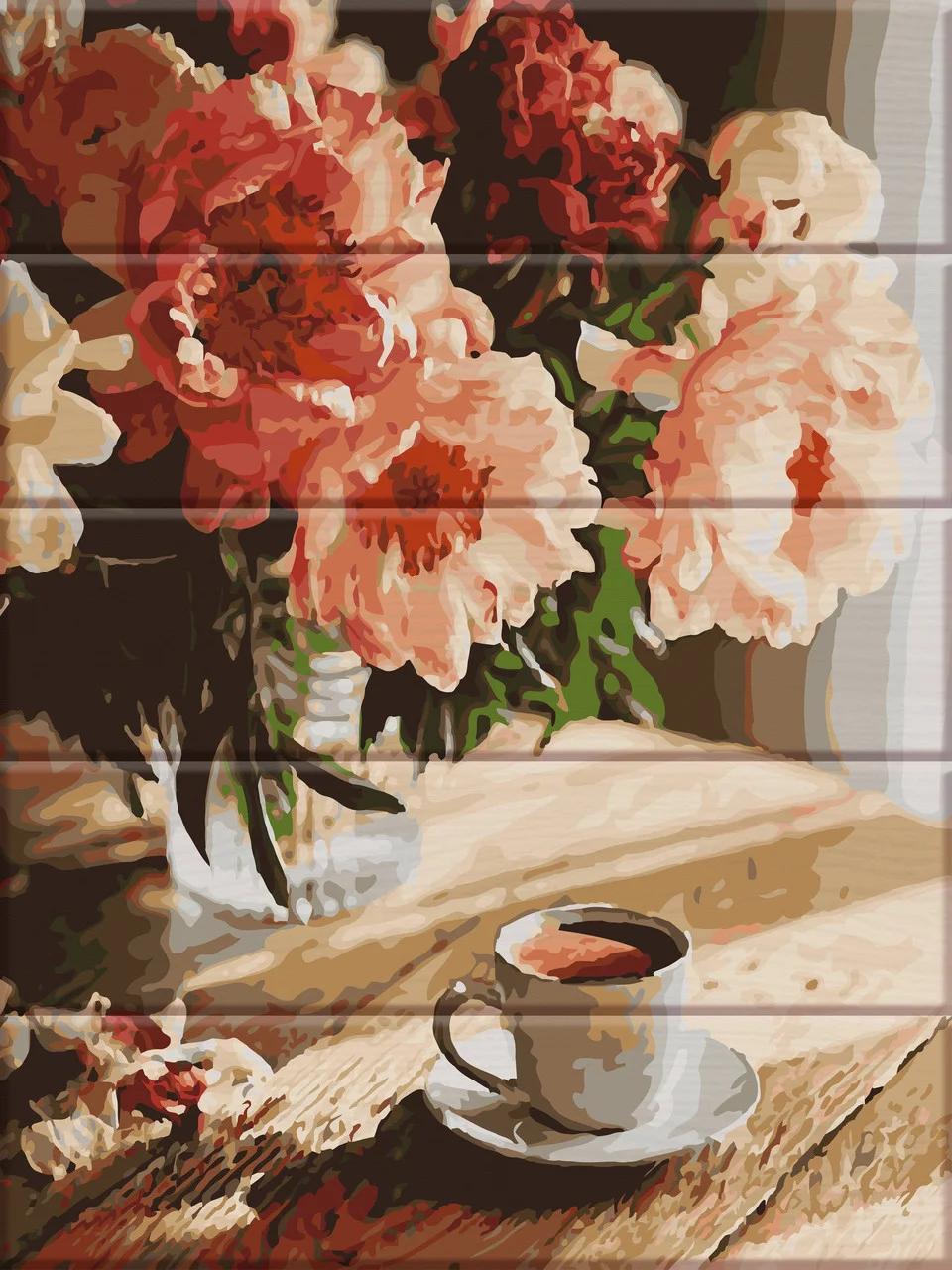 Картины по номерам на дереве Доброе утро ArtStory ASW088 30 х 40 см