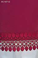 / Размер 52,54,56,60 / Женское платье прямого силуэта с рукавом ¾ / цвет бордо, фото 3