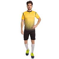 Форма футбольная взрослая BRILL, PL, р-р S-2XL-42-52, рост 160-185см., желтый (CO-16004-(yl))
