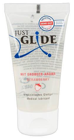 Лубрикант - Just Glide Strawberry, 50 мл, фото 2