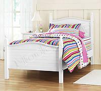 """Односпальне ліжко """"Вікторія"""" з массиву дерева"""