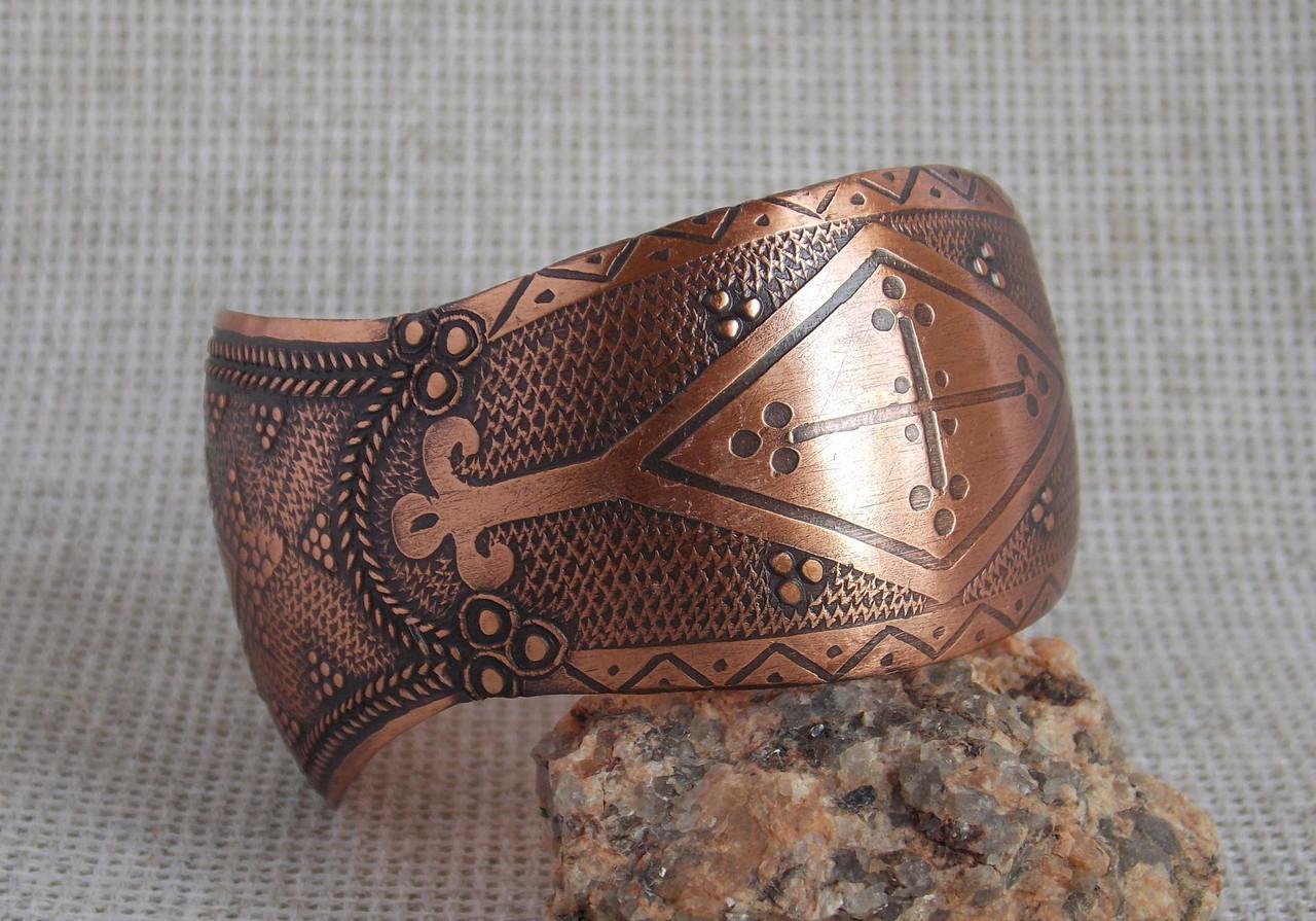 Медный славянский браслет