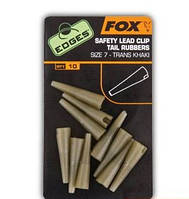 Fox EDGES Slik Lead Clip Tail Rubber / Конуса для безпечної кліпси Size 10